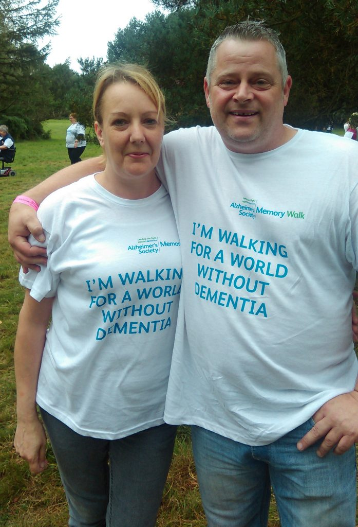 Natasha Dowen and husband - Memory Walk 04.09.16
