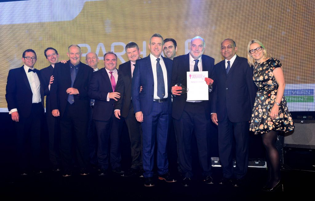 "Severn Trent Water ""Awesome Awards ceremony - Barhale awarded gold award for ""Supplier of the Year"""